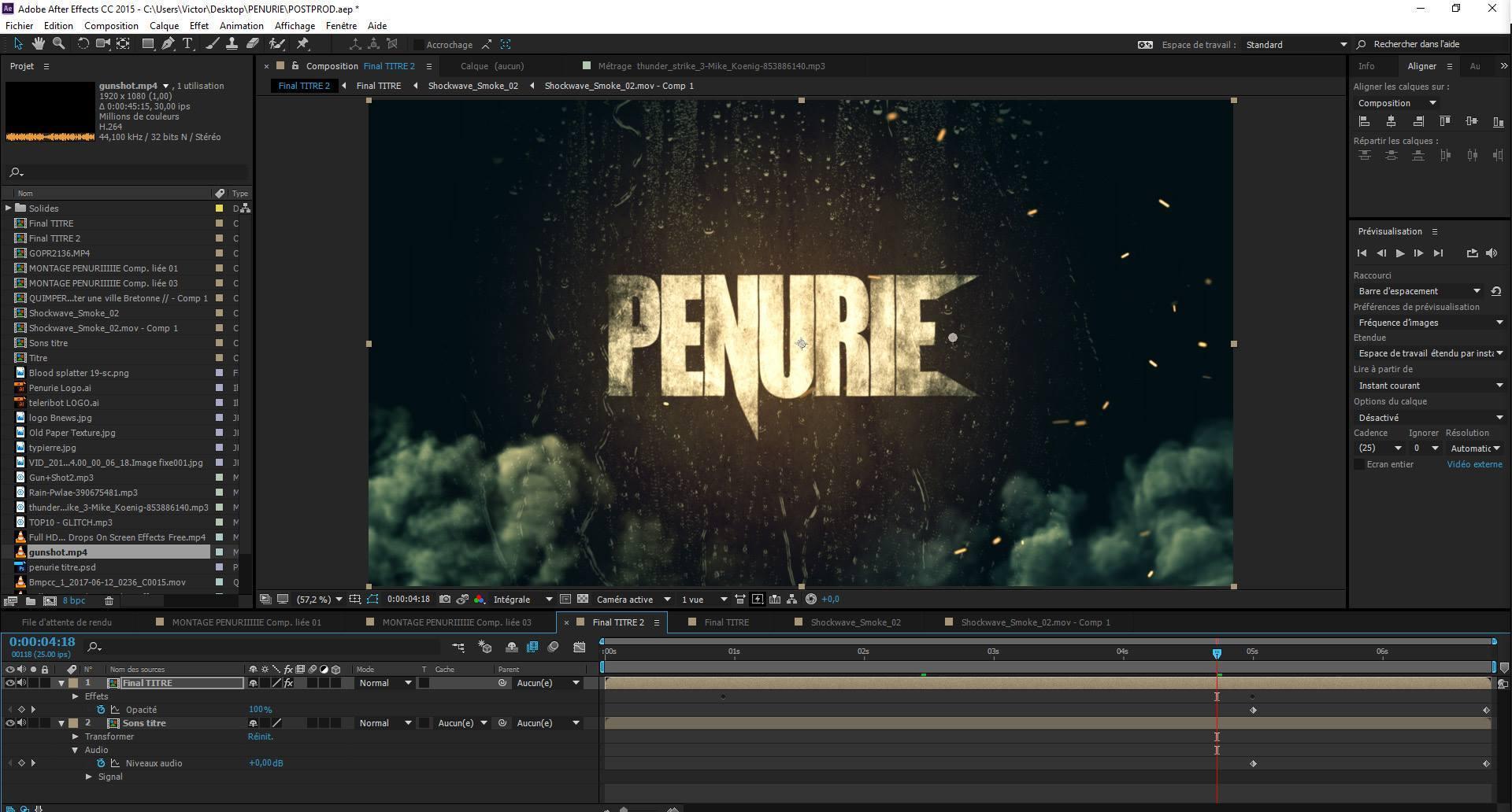 capture d'écran de montage vidéo